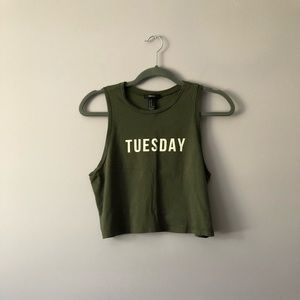 "♥️ ""TUESDAY"" Crop Top"